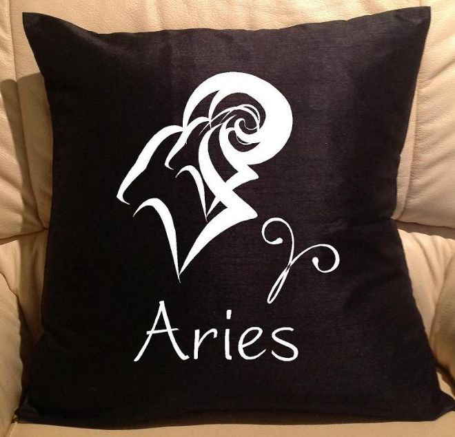Horoscope - star sign Aries pillow, sofa cushions